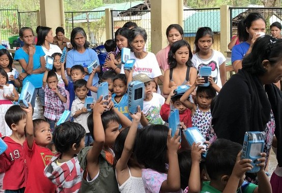 PHC Assistance to Typhoon Nina Victims: Solar Lanterns